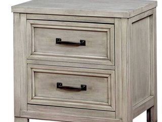 Furniture of America Tywyn Antique White Nightstand with USB Plug  Retail   316 83