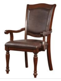 Furniture of America Roke Traditional Cherry Arm Chairs  Set of 2  Retail 276 99