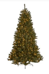 9 foot Noble Fir Pre lit String light Artificial Christmas Tree by Christopher Knight Home  Retail 272 99