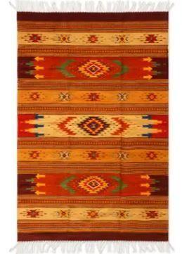 Handmade Zapotec Wool Stellar Magnificent 4ft x 7ft  Retail   549 99