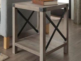 The Gray Barn 18 inch Kujawa X Accent Side Table  Grey Wash  Retail 114 49