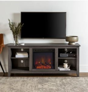 Roosevelt Charcoal 58 inch Fireplace TV Stand Console  Retail 306 99
