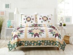 Makers Collective Forged Flora Full Queen Quilt Set