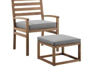 Tybee Outdoor Chair   Ottoman by Havenside Home  Retail 197 99