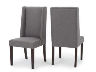 Rory Wing Back Fabric Dining Chair Set of 2