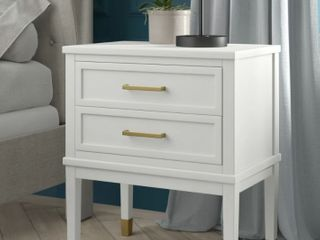 Picket House Furnishings Brody White Side Table With Power Port 6 24 Feet Tall