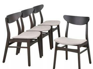 Parlin Mid Century Modern Transitional 4 Piece Dining Chair Set light Beige  Retail 229 99