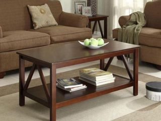 linon Home Decor Products Black Coffee Table