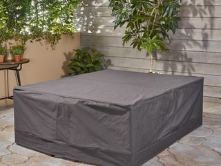 Shield Outdoor Waterproof Fabric Patio Cover by Christopher Knight Home   Retail 81 99