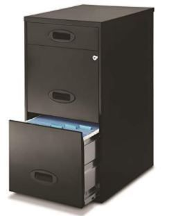 Space Solutions Black 3 drawer File Cabinet with Pencil Drawer  Retail 97 49