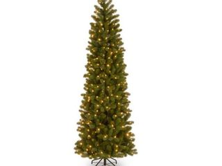 Feel Real Downswept Douglas Fir Pencil Slim Hinged 7 5 foot Tree with 350 Clear lights   Retail 179 99