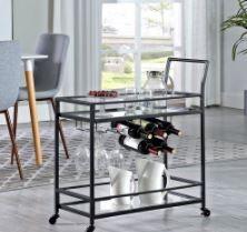 FirstTime  amp  Company Francesca Bar Cart Black