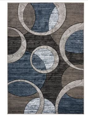 lorelai Collection Abstract Area Rug Round