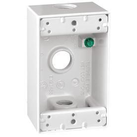 Outlet Box 3 Hole 1 2  All Weather  Sigma Electric 14250WH  White