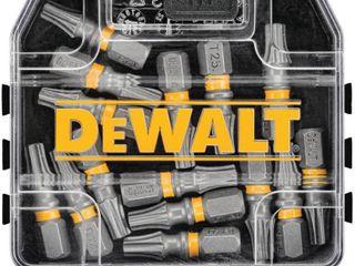 DEWAlT MAX IMPACT 1 in   25 Torx Bit  15 Piece  with Small Bulk Storage Case