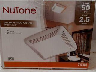NuTone 50 CFM Ventilation Fan with light  763N 2 5 Sones