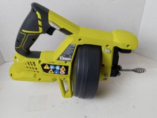 Ryobi 18V drain auger cleans drains up to 2 inches wide