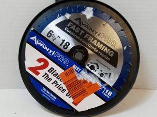 Avanti Pro Fast Framing 6 1 2  18 Teeth Circular Saw Blades Qty 2