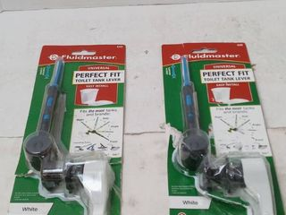 Fluidmaster Perfect Fit Universal Toilet Tank lever  White  Qty 2
