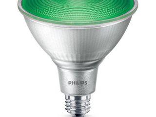 Philips 100W Equivalent Green PAR38 Medium Dimmable lED Floodlight light Bulb