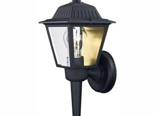Hampton Bay 1 light Black Outdoor Wall lantern Sconce