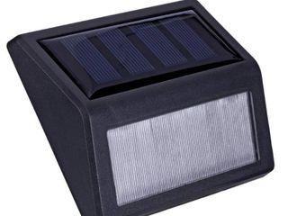 Hampton Bay Solar Black lED Stair light 10 lumens  4 Pack