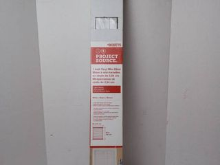 Project Source 1 inch Vinyl Mini Blind 32 in x 64 in white