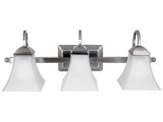 Hampton Bay120 Watt Equivalent 3 light Brushed Nickel Integrated lED Vanity light