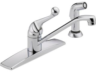Delta Faucet 400lF WF Classic  Single Handle Kitchen Faucet with Spray  Chrome