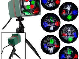 lightShow Christmas Projection Whirl a Motion and Static with 6 Slides