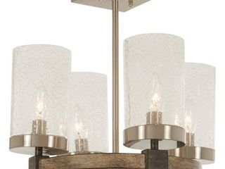 minka lavery semi flush mount ceiling light 4637 106 bridlewood lighting fixture  4 light 240 watts  stone grey