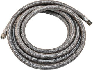 Everbilt 12 ft  Polymer Coated Stainless Steel Icemaker Connector  Grey