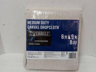 Everbilt 6ft X 9ft Medium Duty Canvas Dropcloth Washable   Reusable 634084