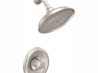 MOEN Ashville Single Handle 1 Spray 1 75 GPM Shower Faucet with Valve in Spot Resist Brushed Nickel  Valve Included