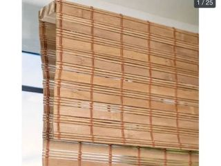 29 W X 64 H   Fox  CHICOlOGY Cordless Bamboo Roman Shades  light Filtering