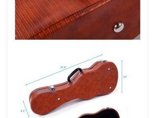Null  Glarry 24  Concert Crocodile Pattern leather Ukulele Case   24
