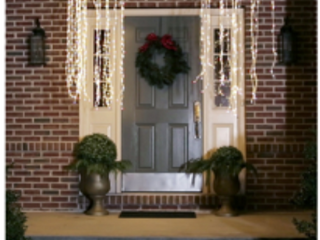Kringle Express Indoor Outdoor 3  9  lit lightfall with 480 lED lights