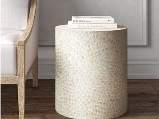 Drum End Table Natural