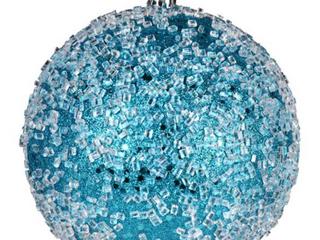4 75  Turquoise Glitter Hail Ball 4 Bag