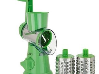 House2Home Countertop Suction Slicer and Grater with 3 Barrels