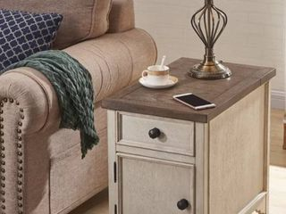 Salazar End Table with Storage and Built In Outlets