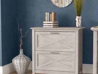 Cyra 2 Drawer lateral Filing Cabinet   WASHED GREY