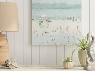 Sea Glass Sandbar I  by Emma Scarvey Painting on Canvas