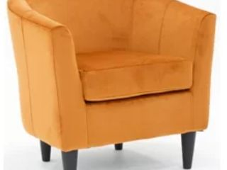 Gaynell Barrel Chair   Orange Harvest