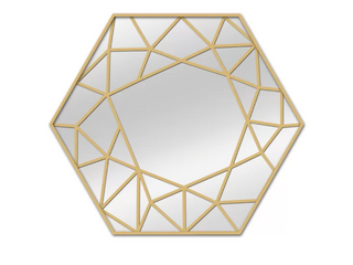 Polygon Modern and Contemporary Beveled Accent Mirror