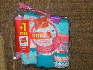 Girls Size 10 Hanes Underwear