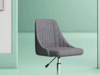 Adina Polyester Blend Task Chair   GREY  MISSING 1 coaster wheel