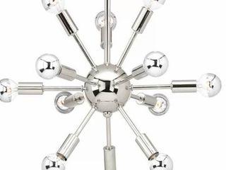 Zimmerman 12   light Sputnik Sphere Chandelier   CHROME Finish