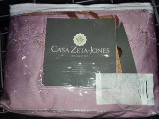 Casa Zeta Jones 400 Thread Count Bed Sheets   Queen