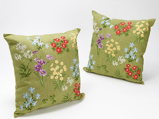 Charles Gallen Set of 2 16X16  Embroidered Pillows